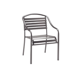 Woodard Baja Strap Stackable Dining Arm Chair - 23001N
