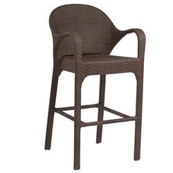 Woodard Bali Bar Stool with Arms - S533089