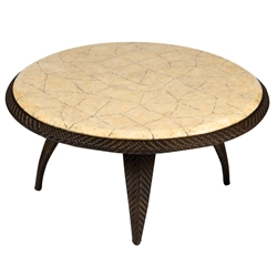 Woodard Bali Coffee Table with Stone Top - S533213