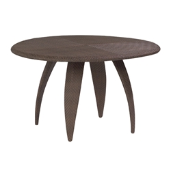 Woodard Bali 48 Inch Round Woven Top Dining Table - S533702