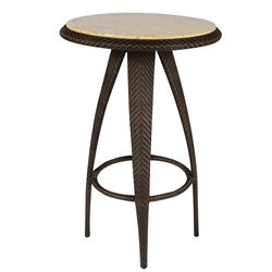 Woodard Bali Bar Table with Stone Top - S533736