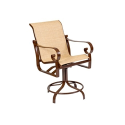 Woodard Belden Sling Swivel Counter Stool - 62H469