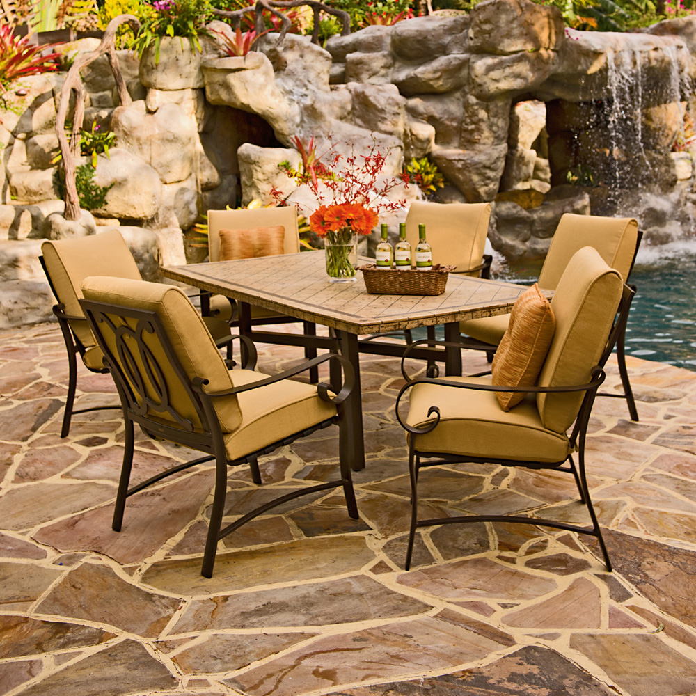 Woodard Belden Cushion Dining Arm Chair 690401m