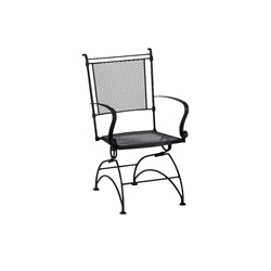Woodard Bradford Stackable Coil Spring Dining Chair - 7X0066
