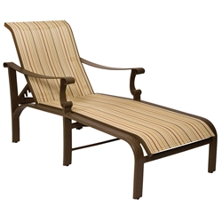 Woodard Bungalow Sling Adjustable Chaise Lounge - 830470