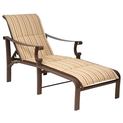 Bungalow Padded Sling Adjustable Chaise Lounge