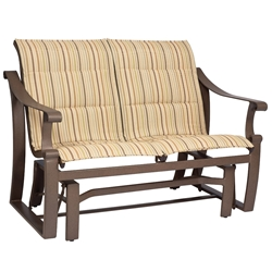 Woodard Bungalow Padded Sling Love Seat Glider - 830573