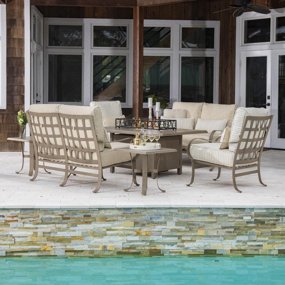 Woodard Cascade Wrought Iron Chaise Lounge Set   WD CASCADE SET3