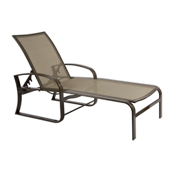 Woodard Cayman Isle Flex Sling Adjustable Chaise Lounge  - 3N0470