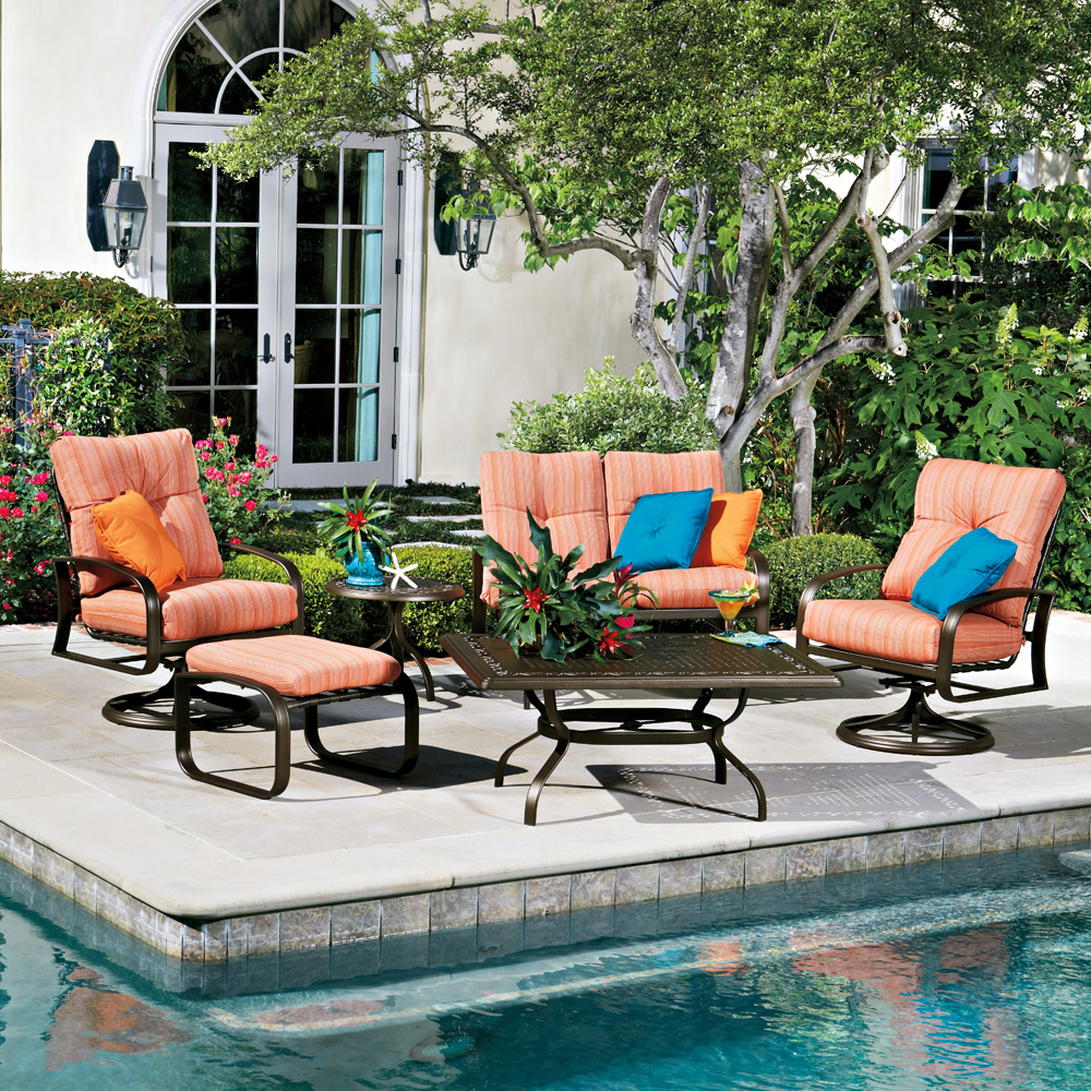 Woodard Cayman Isle Cushion 6 Piece Patio Set - WD-CAYMAN-SET1