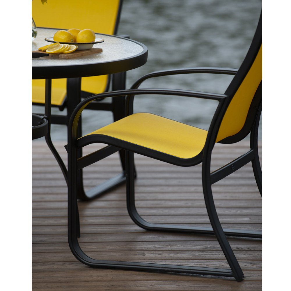 Woodard Cayman Isle Sling Aluminum Patio Dining Set For 4