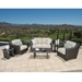 Woodard Cooper Wicker Loveseat Patio Set
