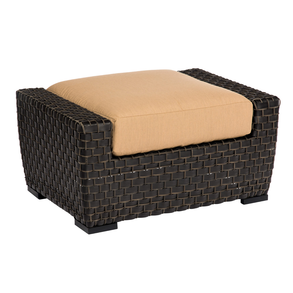 Woodard Cooper Wicker Ottoman - S640005
