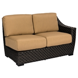 Woodard Cooper LAF Love Seat Wicker Sectional - S640031L