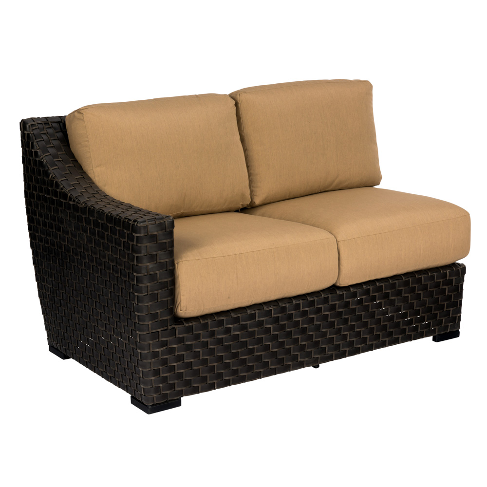 Woodard Cooper RAF Love Seat Wicker Sectional - S640031R