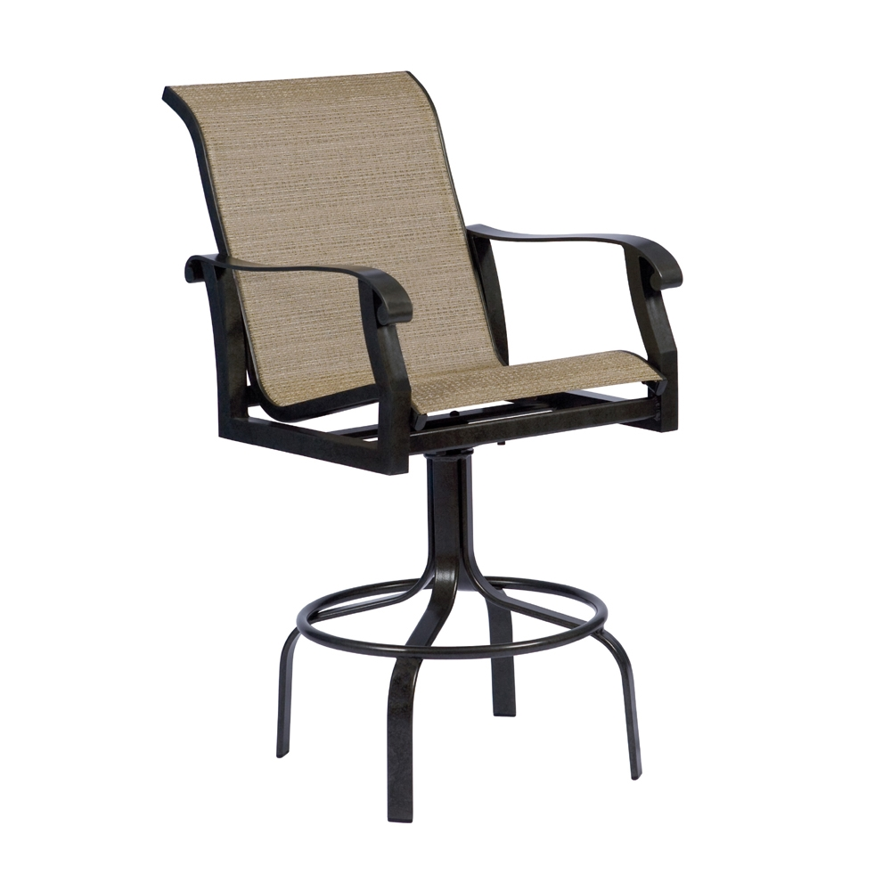 Woodard Cortland Sling Swivel Bar Stool - 420468