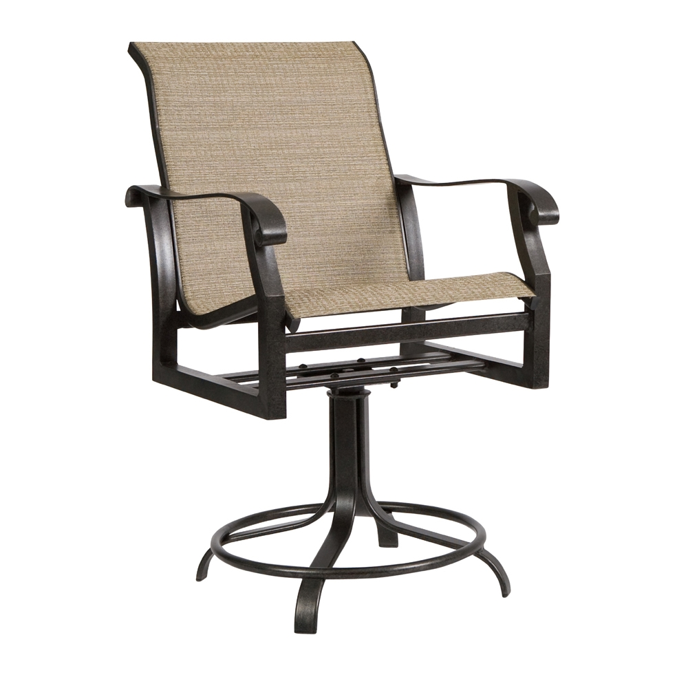 Woodard Cortland Sling Swivel Counter Stool - 420469