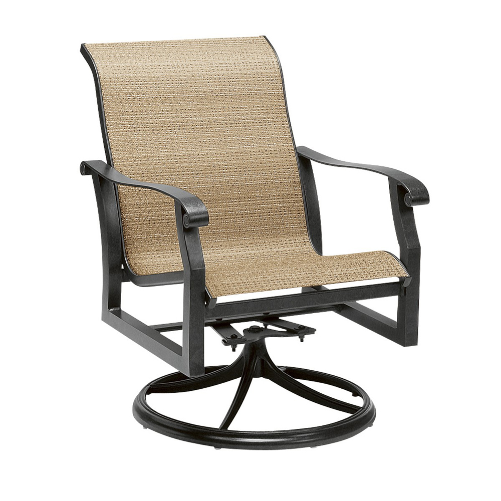 Woodard Cortland Sling Swivel Rocker - 420472