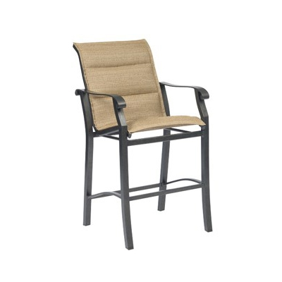 Woodard Cortland Padded Sling Stationary Bar Stool - 420581