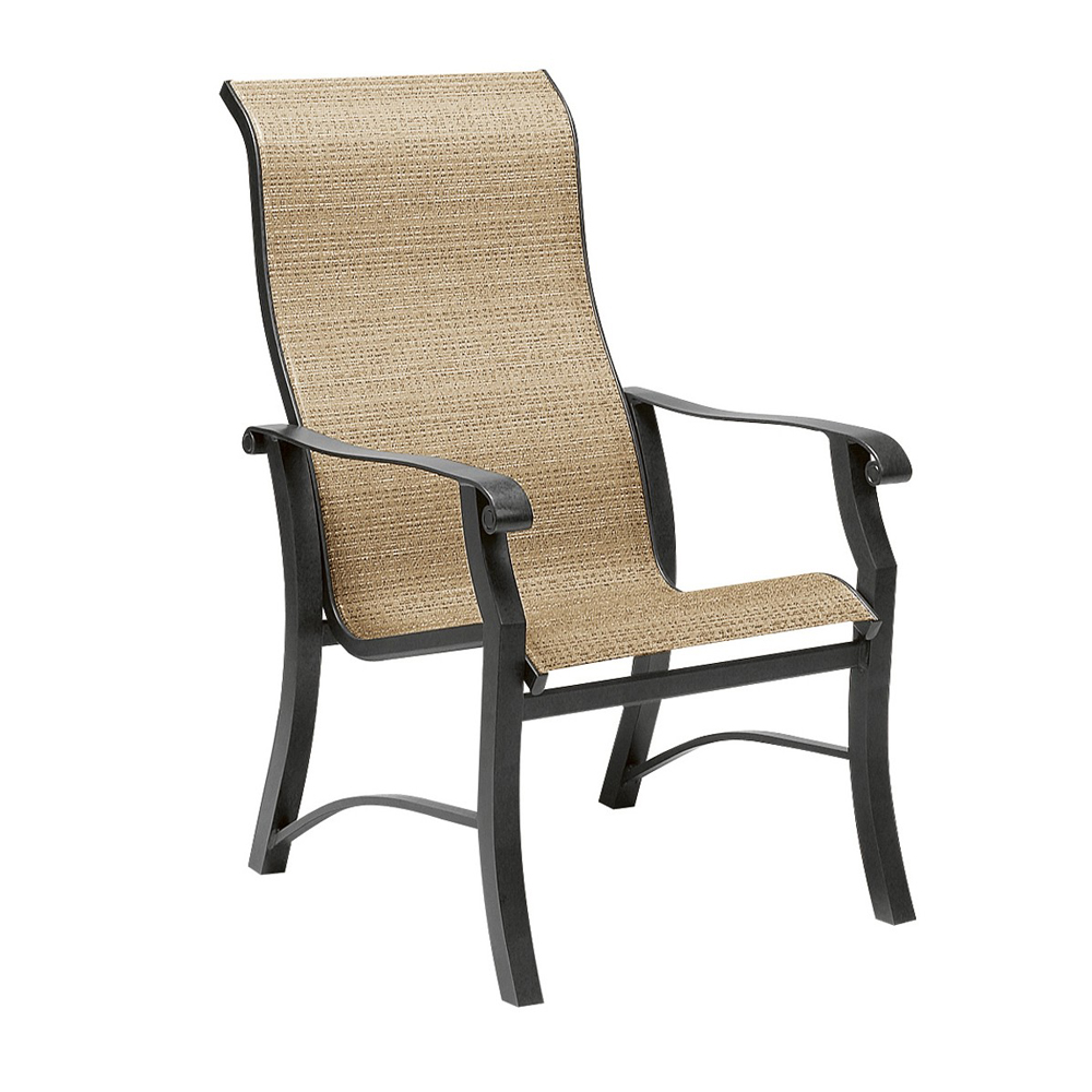 Woodard Cortland Sling High Back Dining Arm Chair - 42H426