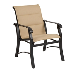 Woodard Cortland Padded Sling Dining Arm Chair - 42H501