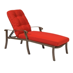 Woodard Cortland Cushion Adjustable Chaise Lounge - 4Z0470