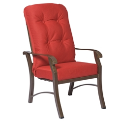 Woodard Cortland Cushion High Back Dining Arm Chair - 4ZM426