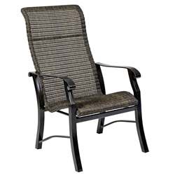 Woodard Cortland Woven High Back Dining Arm Chair - 5V0426