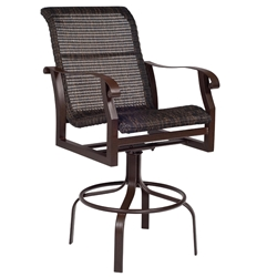 Woodard Cortland Woven Swivel Bar Stool - 5V0468