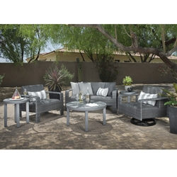 Woodard Darville Wicker Lounge Chair and Love Seat Patio Set