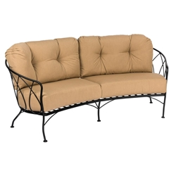 Woodard Delaney Crescent Love Seat - 2N0063