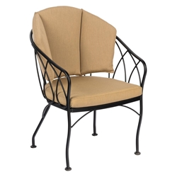 Woodard Delaney Dining Chair with Back Cushion - 2N0001SB
