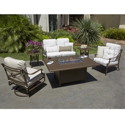 Woodard Delphi Outdoor Fire Table Set - WD-DELPHI-SET2