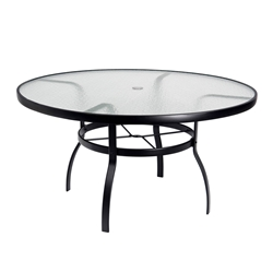 "Deluxe 54"" Round Glass Top Umbrella Dining Table"