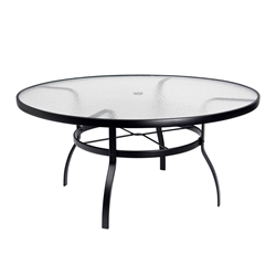 "Deluxe 60"" Round Obscure Glass Top Umbrella Dining Table"