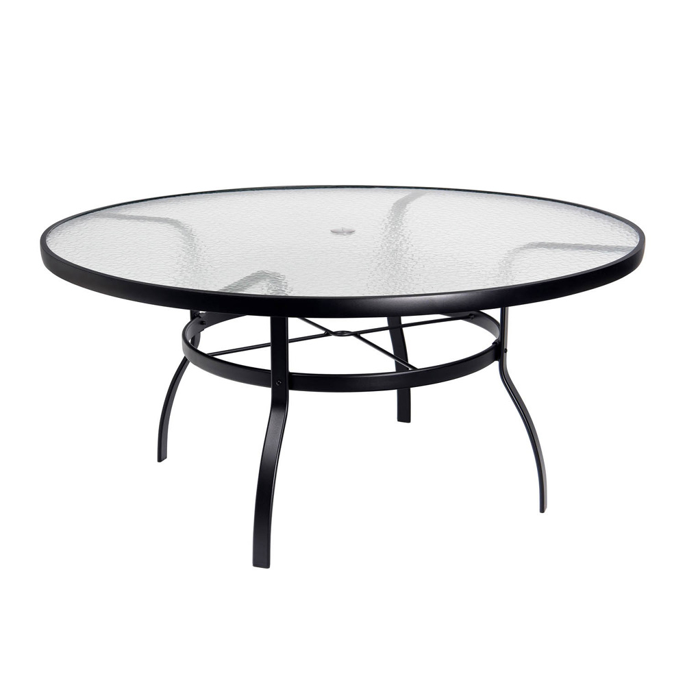 Woodard Deluxe 60 Quot Round Obscure Glass Top Umbrella Dining