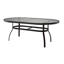 Woodard Deluxe Oval Glass Top Dining Table - 827174W