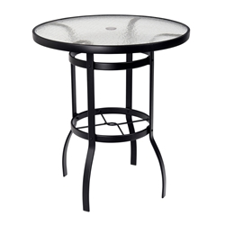 Woodard Deluxe 36 inch round Glass Top Bar Table - 827536W