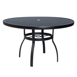 Woodard Deluxe 48 inch round Lattice Top Dining Table - 826148WL