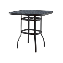 Woodard Deluxe 42 inch square Lattice Top Bar Table - 826542WL