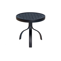 Woodard Deluxe 18 inch round End Table with Lattice Top - 826604WL