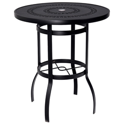 Woodard Deluxe 36 inch round Trellis Top Bar Table - 820536A