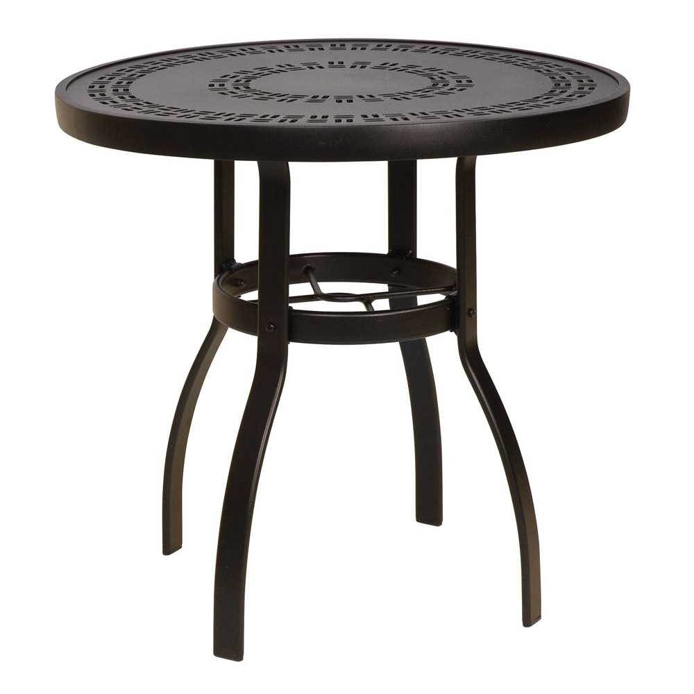 Woodard Deluxe 30 Inch Round Trellis Top Dining Table