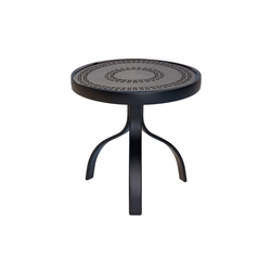 Woodard Deluxe 18 inch round End Table with Lattice Top - 826604A