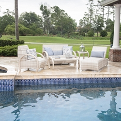 Woodard Eclipse Wicker Patio Set with Hidden Reticulated Foam Cushions - WD-ECLIPSE-SET2