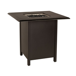 "Woodard Solid Cast 42"" Square Bar Height Fire Table - 13CM3SQSB-09242FP"