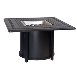 Woodard Universal Fire Pit Table with Square Burner and Empire Top - 2T0338-03343FP