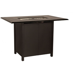 "Woodard Solid Cast 60"" x 42"" Rectangular Bar Height Fire Table - 650LBR-09246FP"