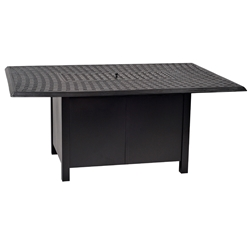 Woodard Aluminum Rectangle Chat Height Fire Table - 650LCH