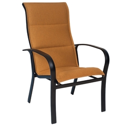 Woodard Fremont Padded Sling High Back Stackable Dining Arm Chair - 2PH526